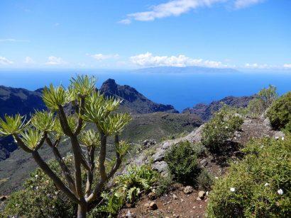 Der Blick auf La Gomera