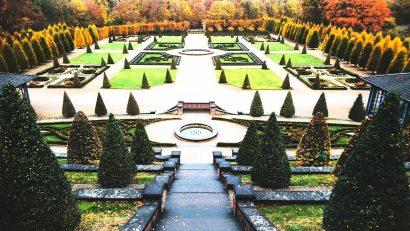 Der wunderschöne, barocke Terrassengarten am Kloster Kamp.
