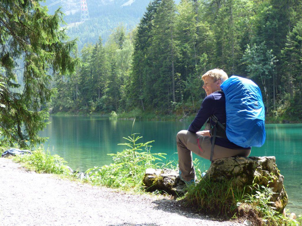 Wander-Weisheiten: Pause am Eibsee