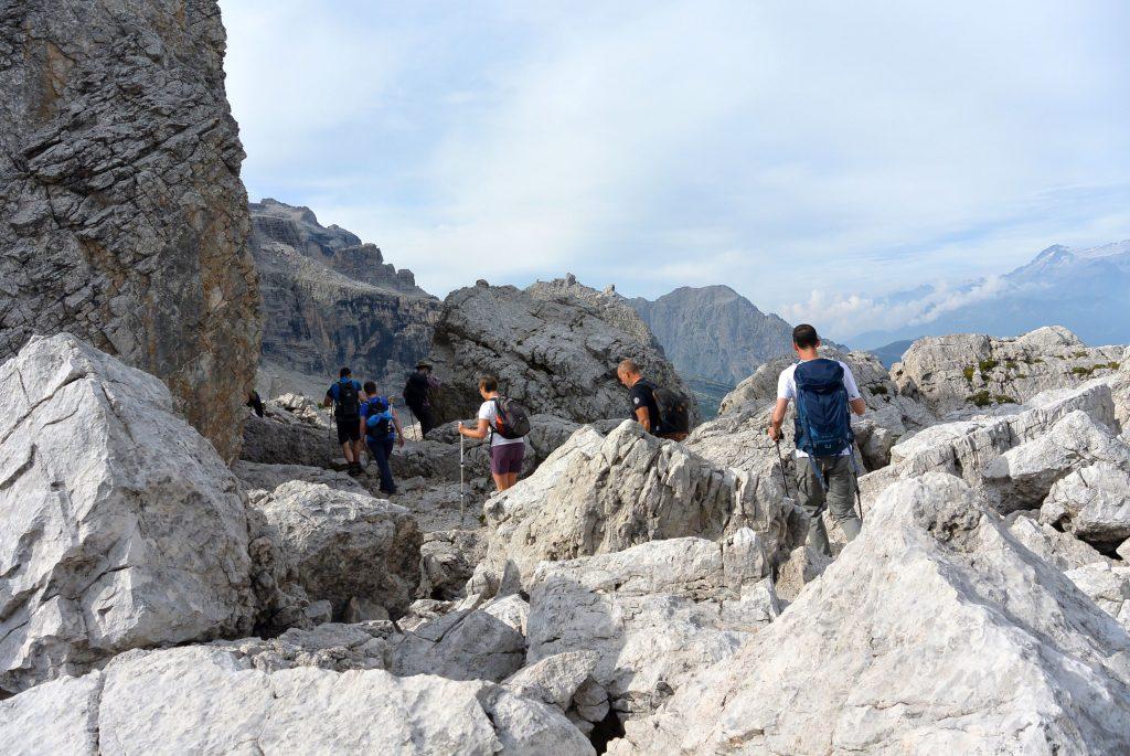 Felsen in den Brenta-Dolomiten