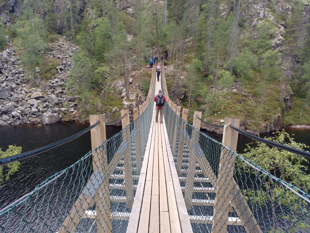 Perfekte Laufstege:  Hängebrücke