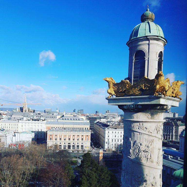 Blick vom Dach der Karlskirche