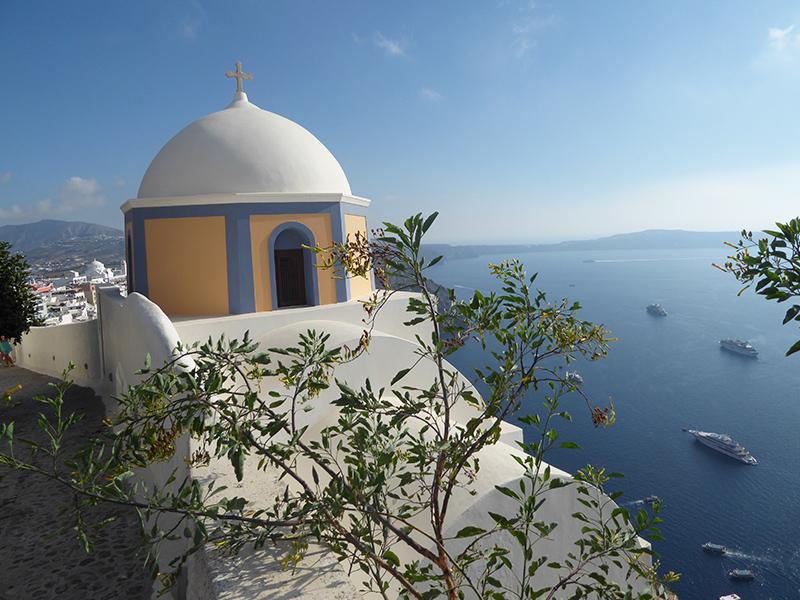 Kapelle in Fira auf Santorini