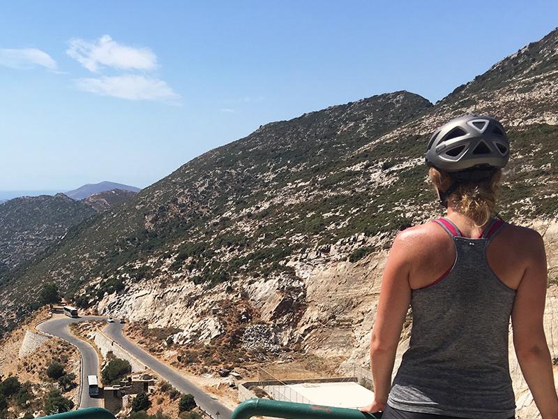 Radetappe beim Inselhüpfen auf Naxos