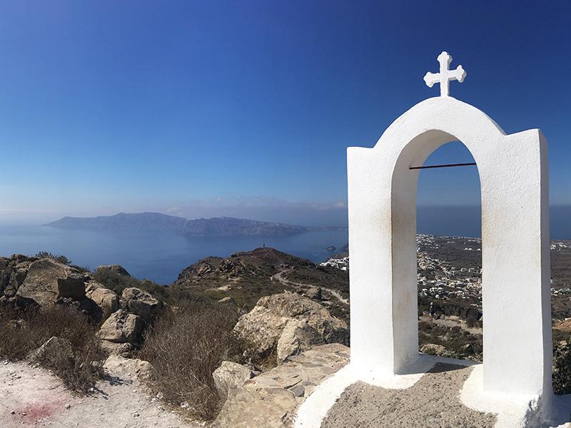 Fantastischer Ausblick auf Santorin