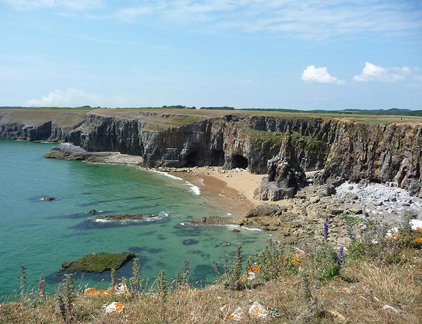 Versteckte Bucht an der Walisischen Küste