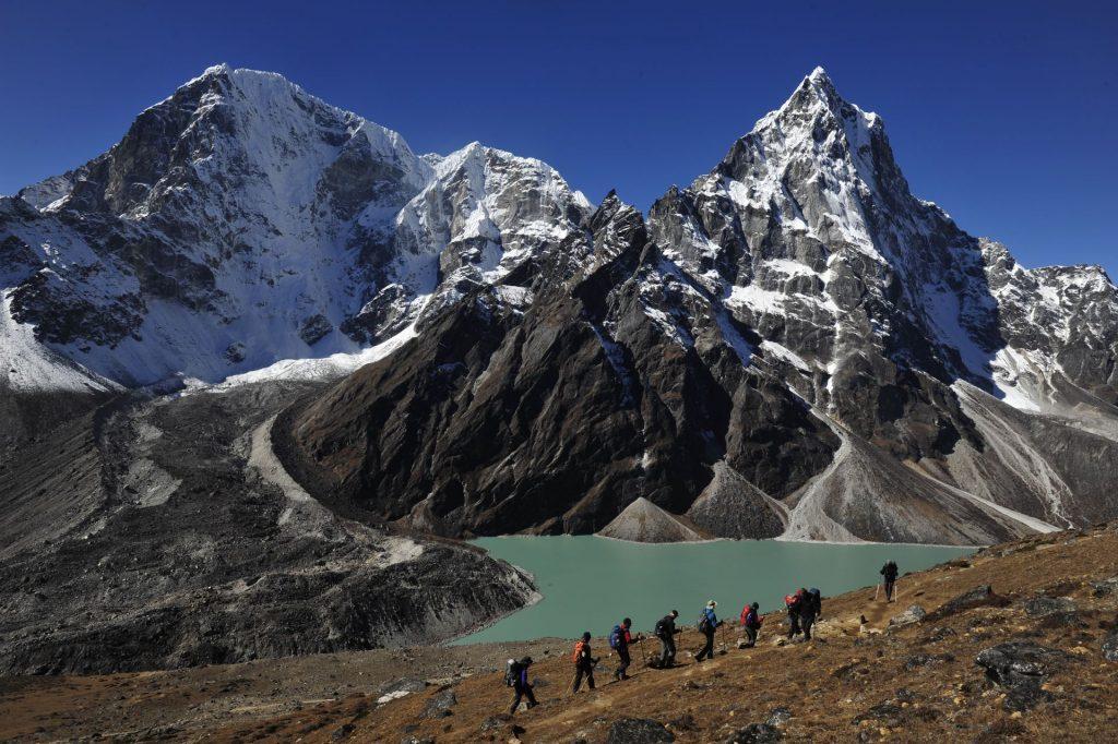 Auf dem Weg zum Cho La in Nepal
