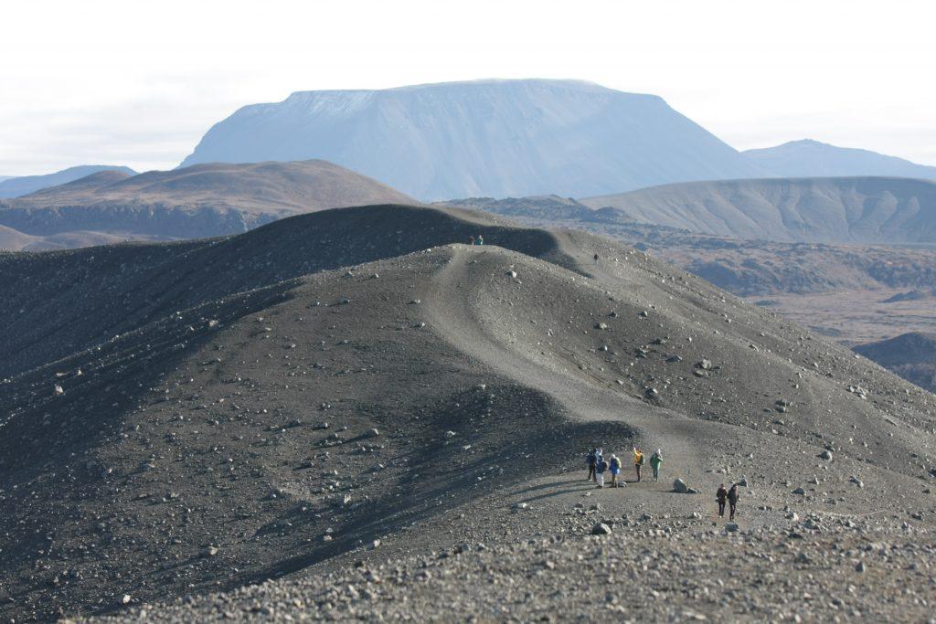 Wanderung am Hverfjall-Krater