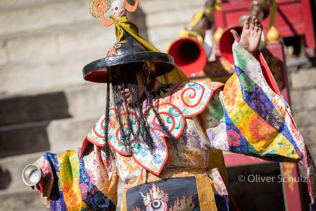 Die Tscham Tänzer sind meist ebenfalls Mönche manchmal hohe Lamas