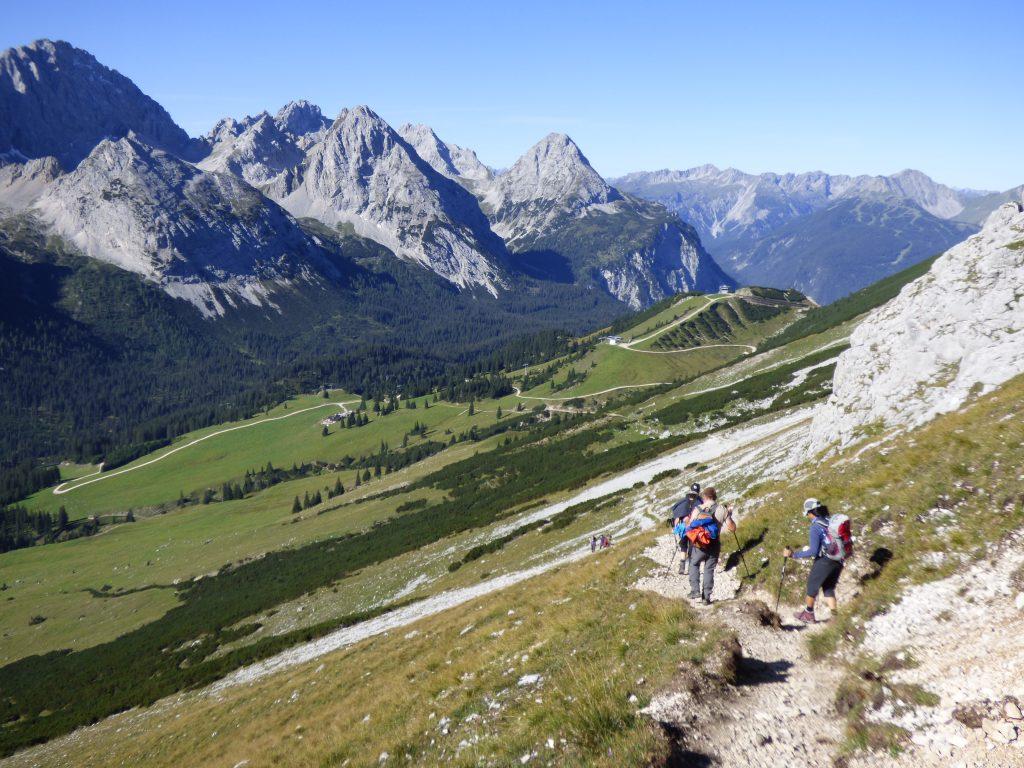 Der lange Weg ins Tal: Für den Abstieg braucht man Konzentration, Kraft, Trittsicherheit und gut sitzende Schuhe.