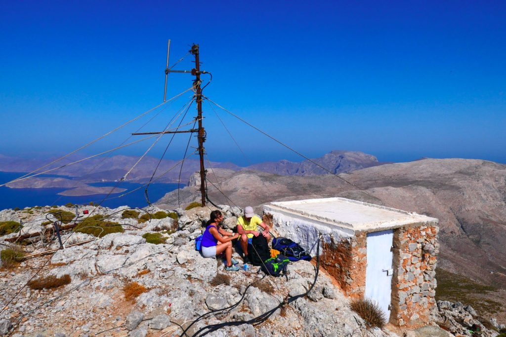 Wanderpause am Kalymnos-Trail