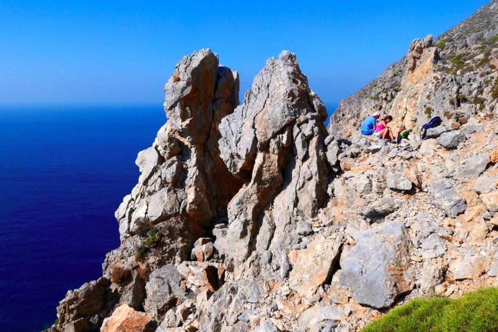 Traumhafter Rastplatz am Kalymnos-Trail