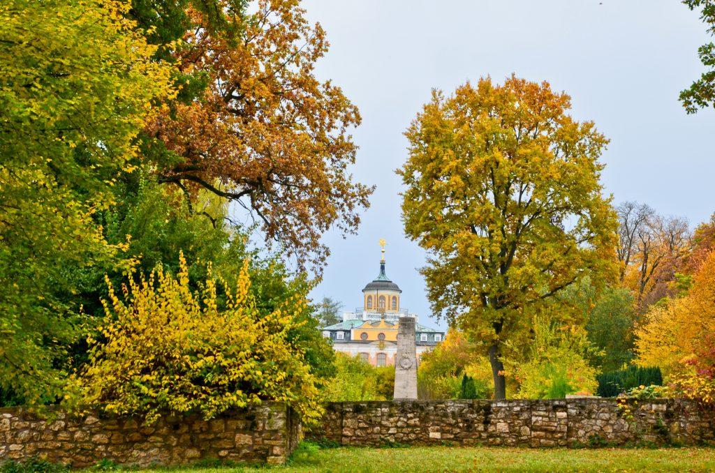 Thüringen: idyllische Herbstwanderlandschaft