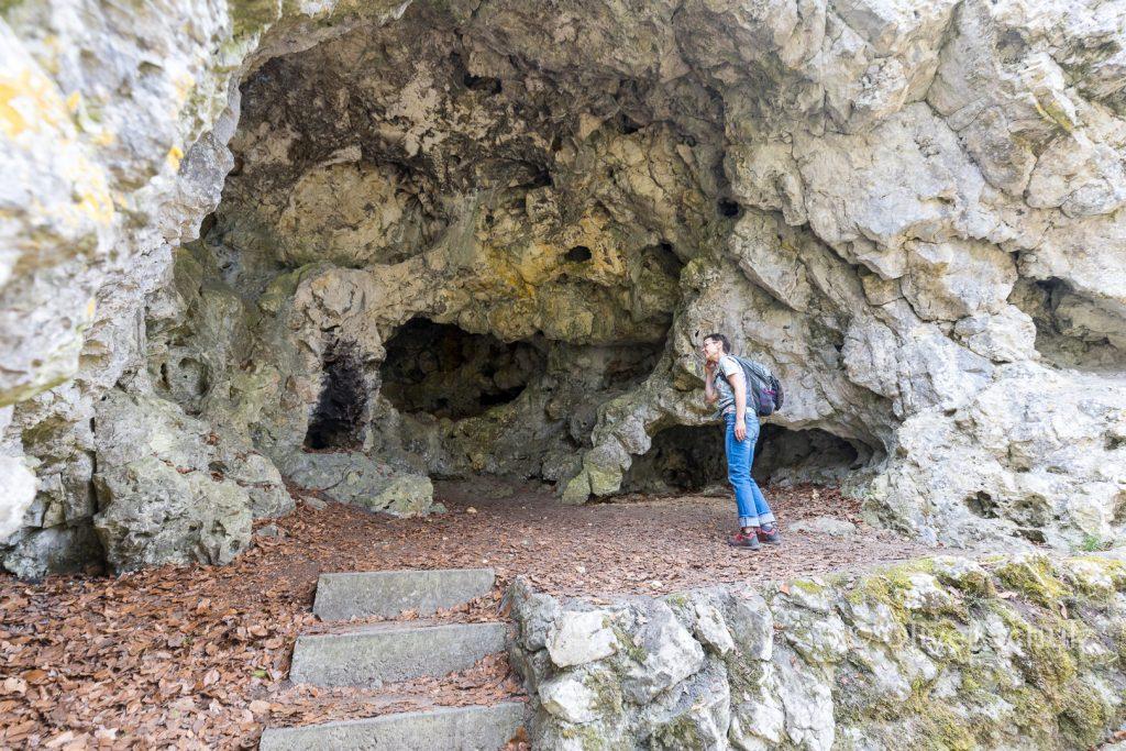Höhlenwanderung, Höhlenwanderung auf der Schwäbischen Alb