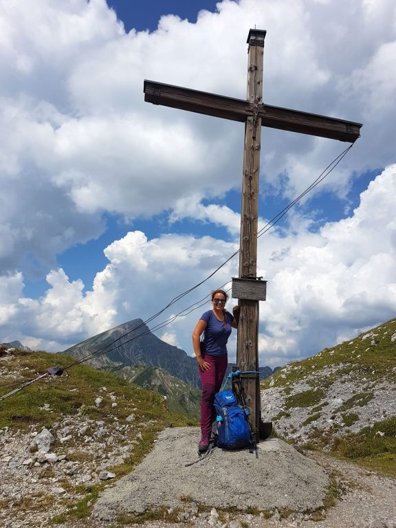 Jubel am Gipfelkreuz