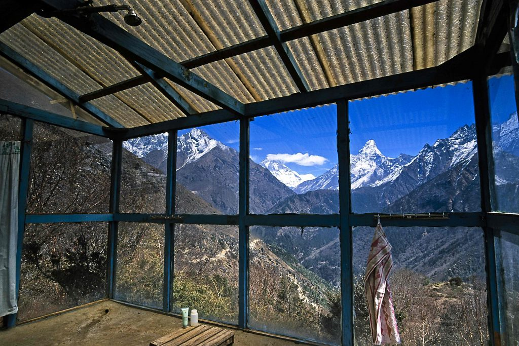 Die schönste Dusche im Everest Gebiet
