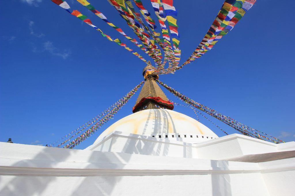 eines der beliebtesten Fotomotive Nepals - die Gebetsfahnen