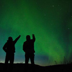 Die ersten Polarlichter von zwei Wikinger-Gästen in Norwegen
