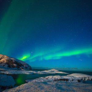 Tromsø fasziniert mit aufflackernden Nordlichtern