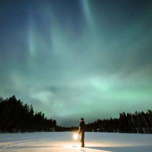 Polarlichter in Lappland, der nördlichsten Region Finnlands